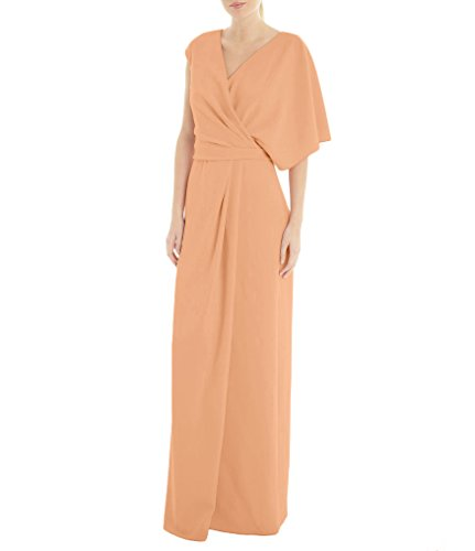 A of The Amore Mother Womens Dress 2018 Orange Line Long Evening Bridal Chiffon Bride 68xxI0wq1