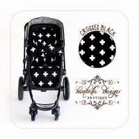 Bambella Designs Stroller Liner - Black Crosses by BayB Brand