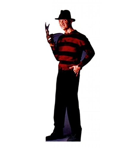 Halloween Character Cutouts (Freddy Krueger - A Nightmare on Elm Street - Advanced Graphics Life Size Cardboard Standup)