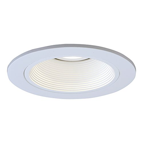 HALO Recessed 1493W 4-Inch Trim with Baffle, White