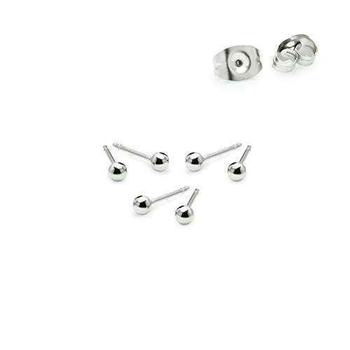 """River Island - River Island Jewelry – """"3 Pairs"""" Stainless Steel 2mm Tiny Ball Stud Earrings"""