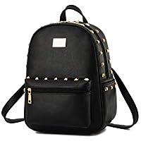 Elegant style Korean version rivet bag ladies leisure backpack schoolbag travel bag for Girls WB78