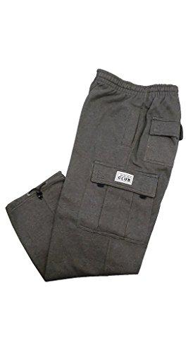 Pro Club Fleece Cargo Sweatpants 13.0oz 60/40 XL Charcoal