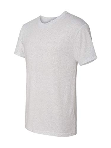 (Next Level 6010 Men's Tri-Blend Crew Tee - Large - Heather White)
