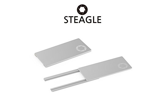 STEAGLE ORIGINAL (Silver) Laptop Webcam Cover for your privacy - Macbook - Laptop - PC - 0.03 inch ultimate -
