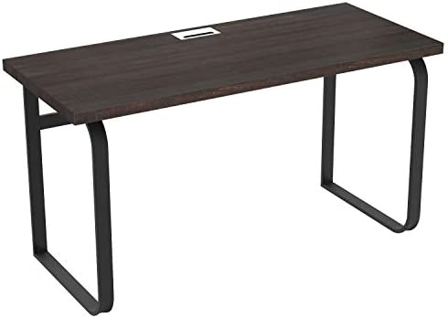 IRONCK Writing Desk 55 , Industrial Office Computer Desk, Gaming Desk with Sturdy Metal Frame, Simple Study Table Workstation for Home Office, Espresso
