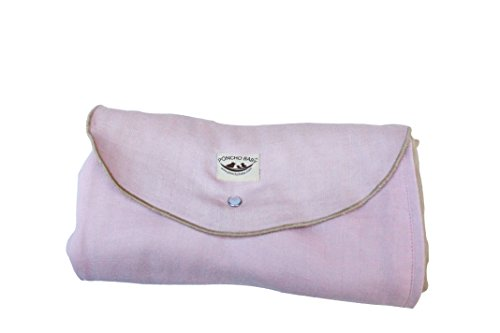 Price comparison product image Poncho Baby Organic Blanket, Roly Blanket, Pink/Beige