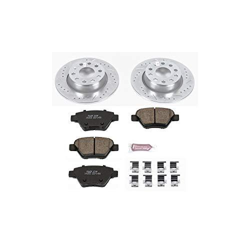 Power Stop K5667 Rear Brake Kit with Drilled/Slotted Brake Rotors and Z23 Evolution Ceramic Brake Pads