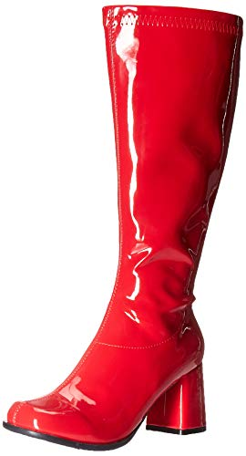 Ellie Shoes Women's GOGO-W Knee High Boot, RED, 10 M US