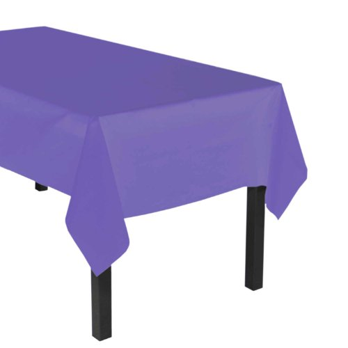 Party Essentials ValuMost Plastic Table Cover Available in 36 Colors, 54'' x 108'', Royal Purple by Party Essentials