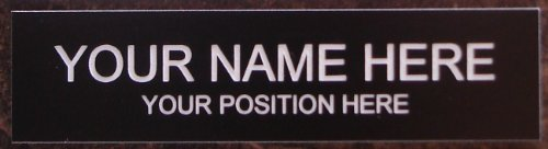 Engraved Plastic Signs (Office Desk Name Plate or Door Sign - Laser Engraved Signage Material -)