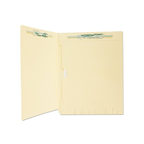 250 Pockets - Medical Arts Press Match Manila End Tab Folders with Full Pocket and 2 Permclip Fasteners (250/Carton)