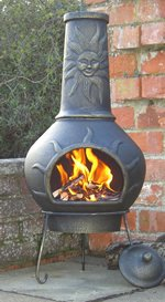 CASTMASTER PHOENIX CAST IRON SUNFACE CHIMINEA PATIO HEATER