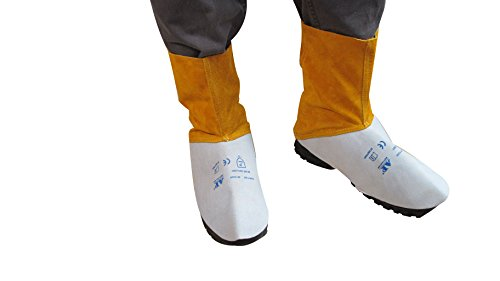 AllyProtect Flame Retardant Leather Welding Spats/Shoe Protector/Boots Cover for Gardening &Work Length 6 inch (AP-9100) -