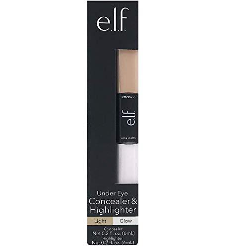 1-e.l.f. Under Eye Concealer & Highlighter, Light/Glow