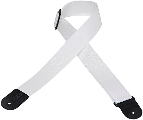 Levy`s Leathers 2 Polypropylene Guitar StrapPolyester Ends and Tri-glide Adjustment; White (M8POLY-WHT)