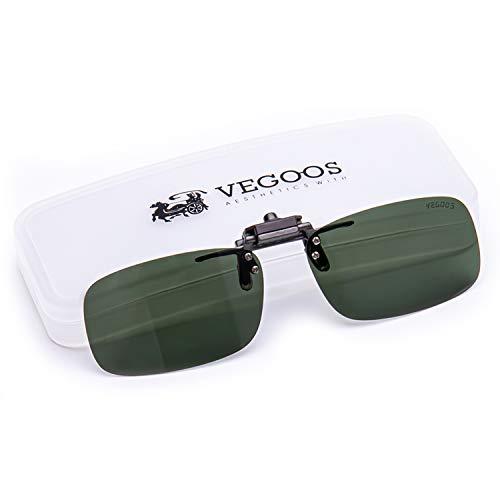 VEGOOS Polarized Clip on Sunglasses for Men Women Flip up Sunglasses Over Prescription Glasses 59mm