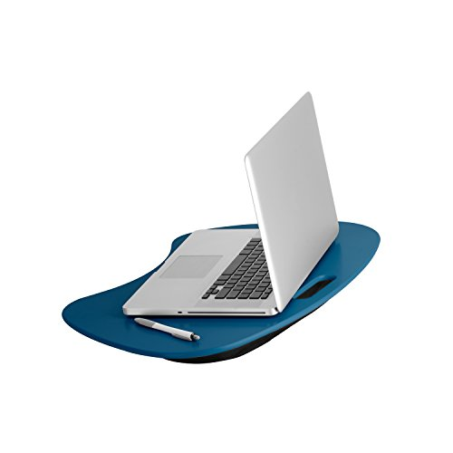 Honey-Can-Do TBL-06321 Portable Laptop Lap Desk with Handle, Indigo Blue, 23 L x 16 W x 2.5 H (Best Laptop Lap Desk)
