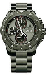 Victorinox Swiss Army Men's Automatic Chronograph Alpnach Black PVD Stainless Steel Bracelet Watch 44mm 241573