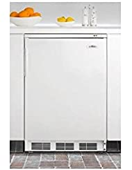 Summit VT65MBIDPL Upright Freezer, Silver With Diamond Plate