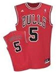 adidas Chicago Bulls NBA réplica Baloncesto Jersey Chaleco – Carlos Boozer # 5 – Mens Grande