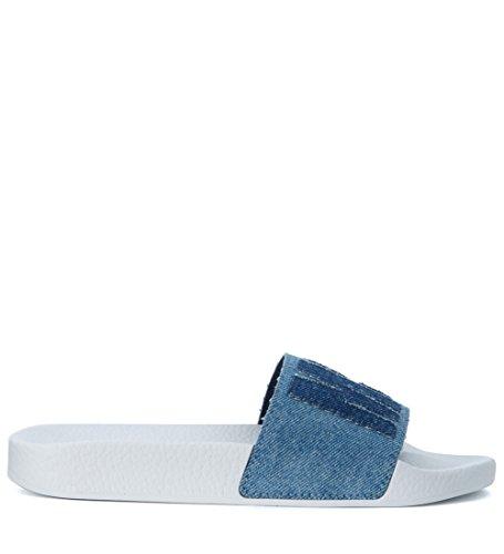 MSGM Zapatilla EN Denim Efecto Washed Azul