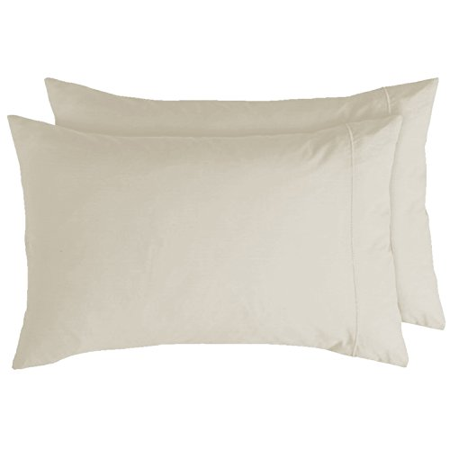 - California Cotton Club, 600 Thread Count Pillowcases, Set of 2 Qty's, 100% Long-Staple Combed US Cotton, Marrow-Stitch Hem, Soft Sateen Weave Pillowcases (Old Ivory, King Pillowcases)