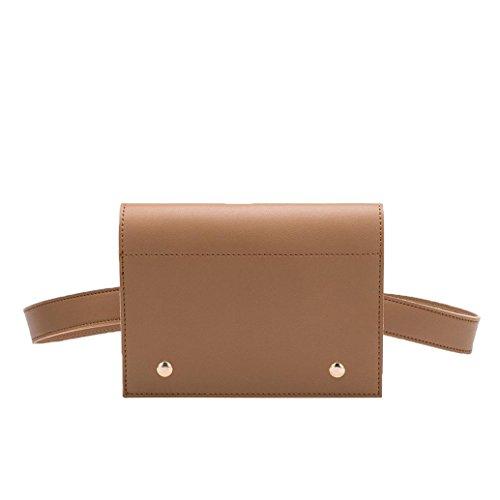 Melie Bianco Stylish Waist Bags For Women - Gabby Belt Design - Luxury Vegan Leather (Tan)