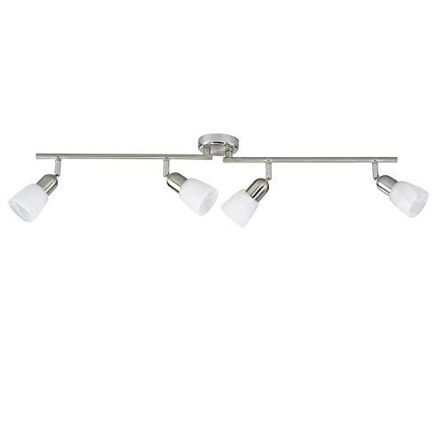 Brilliant Sofia spotbuis, 4 lampen, draaibaar, 4 x E14 max. 40 W, metaal/glas, ijzer/chroom 55331/77