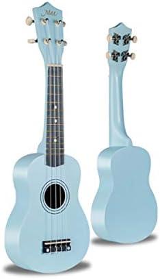 ウクレレ、ウクレレ、ウクレレ、21インチの小型ギター、フォークギター (Color : Blue-21 inches)