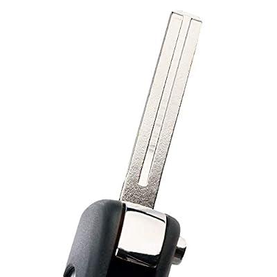 fits 2012-2014 Kia Rio / 2010-2013 Kia Soul Flip Key Fob Remote Case Shell (NYOSEKSAM11ATX): Automotive