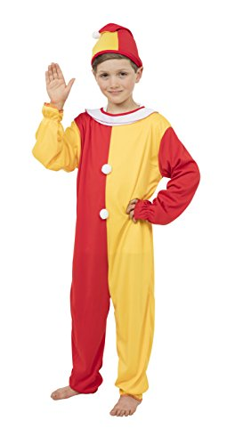 Bristol Novelty Clown Costume (L) Childs Age 7 - 9 Years