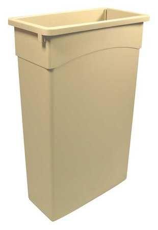 Ada Rectangular Wastebasket - Tough Guy 4PGV1 Rectangular Container, 23 G, Beige