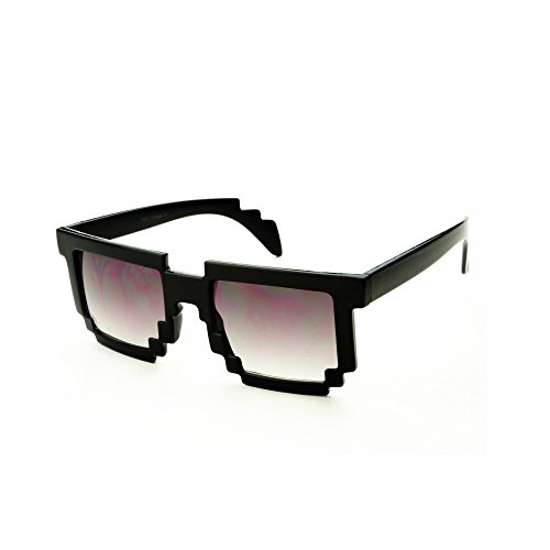 Block Pixelated Sunglasses 8-Bit Pixel Video Gamer Geek Costume Party - Cruise Glasses Tom