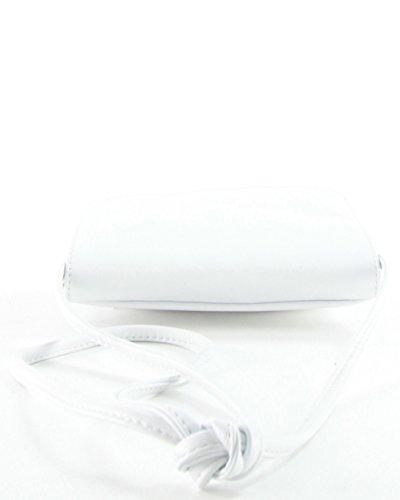 histoireDaccessoires - Clutch de Cuero de Mujer - PO155734-GE-Capucine Blanco