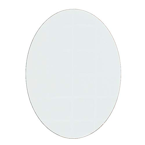 JWZQ Bathroom Wall Mirror (6080cm), Explosion-Proof Glass, Oval Frameless Bathroom, Suitable for -