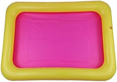 Bandeja de Arena Inflable Castillo Mesa móvil Caja de Arena de PVC Bandeja sensorial Divertido Juego de Interior Juguetes Bandeja de Piscina para ni?os - Aleatorio 60x45cm: Amazon.es: Juguetes y juegos