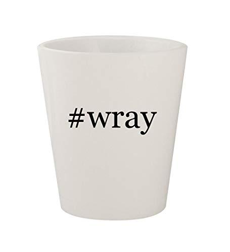 #wray - Ceramic White Hashtag 1.5oz Shot Glass