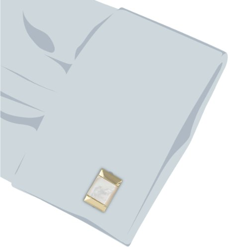 Stacy Adams Men's Cuff Link with Mop Stone, Gold, One Size by Stacy Adams (Image #2)
