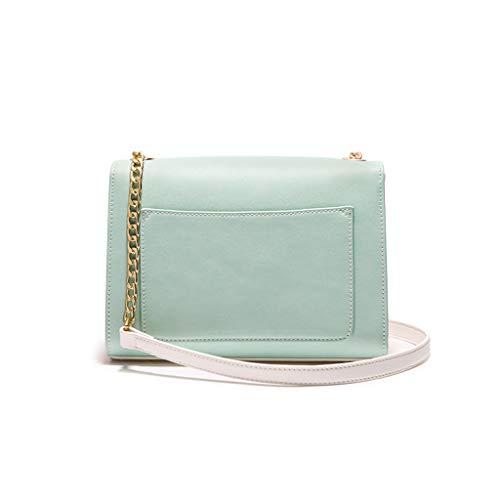 decoración pequeña Bolsa Green Color Simple Cadena Messenger Arco Green Bolso Cadena LIUFS versátil Hombro Bag Borla zg1aqw