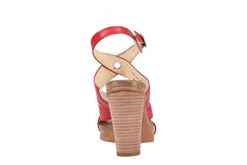 Fly London Women Boxy245fly Heeled Sandal Lipstick Red Mousse