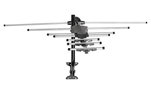 Pro Outdoor Long Range Yagi Style VHF/UHF HDTV Antenna - 70 Mile Long Range HDTV Antenna - VHF/UHF Channels - Long Range - Optimized for FULLHD 1080p and 4K Ready (HDTV669) with Mount