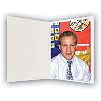 White Photo Folder for 5x7/4x6 (Pack of 50) Cut Corners