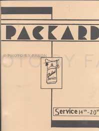 1936-1944 Packard Reprint Service Letters, used for sale  Delivered anywhere in USA