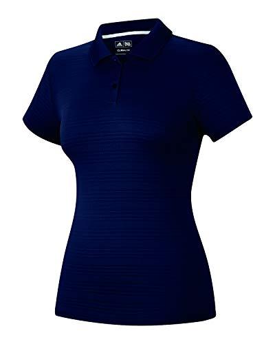 adidas Golf Womens Climalite Textured Short-Sleeve Polo (A162) -Navy -S