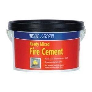5KG VALLANCE FIRE CEMENT HEAT RESISTANT 1250C READY MIX
