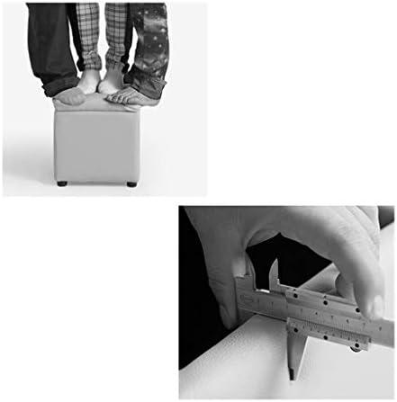 Tabouret Bas Repose-pieds De Stockage Tabouret De Stockage Place Grand Coffre Pouf De Rangement En Bois Plástico Charge De 300 Kg mwsoz (Taille : 34cmx34cmx36cm)