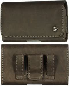 Viesrod Brown Bold Leather Case Pouch For Motorola Droid (A855)