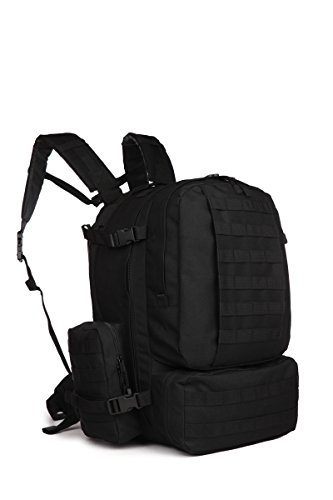 (ARMYCAMOUSA 50-60 L Sport Outdoor Military Rucksacks Tactical Molle Backpack Camping Hiking Trekking Assault 3-Days Backpack Bag 08007)
