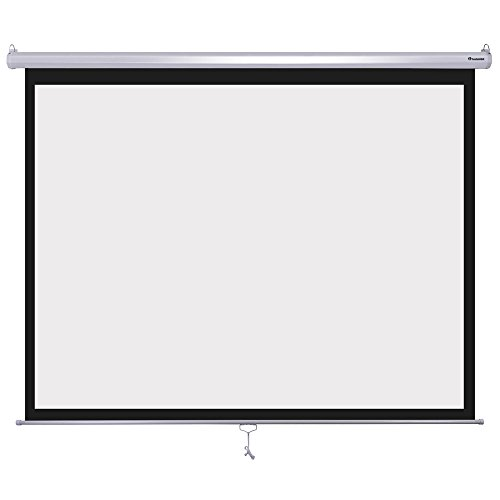 Instahibit 120'' Diagonal 4:3 Manual Pull Down Projector Screen Classroom Meeting Room Home Bar Projection by Instahibit